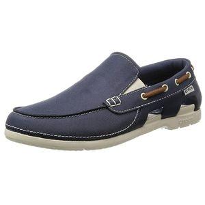 Crocs/Navy-Blue Boat Shoes/ Size 9